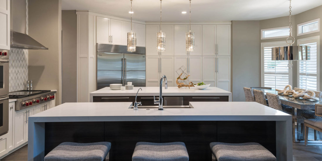 Ice Interior Design Project: Steiner Ranch addition's modern kitchen