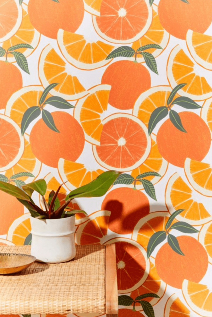 Sliced Orange Removable Wallpaper