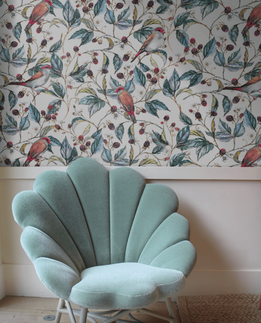 Wild Berry removable wallpaper
